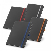 Caderno Couro Sint. c/ 80 Folhas - 90 x 140 mm