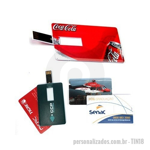 Pen Card personalizado - Pen Card 4; 8; 16 e 32gb.