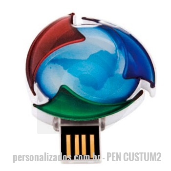 Pen Drive customizado personalizado - PEN DRIVE CUSTOMIZADO EM RESINA RETRATIL
