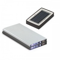 Power Bank Alumínio 8.000 mAh - Solar e Led